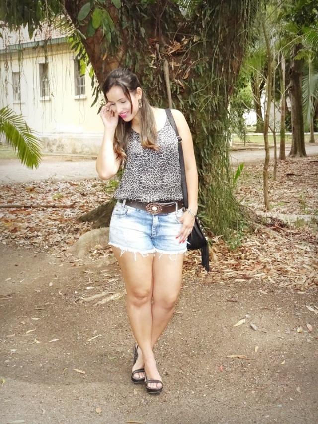 Short Jeans e Animal Print