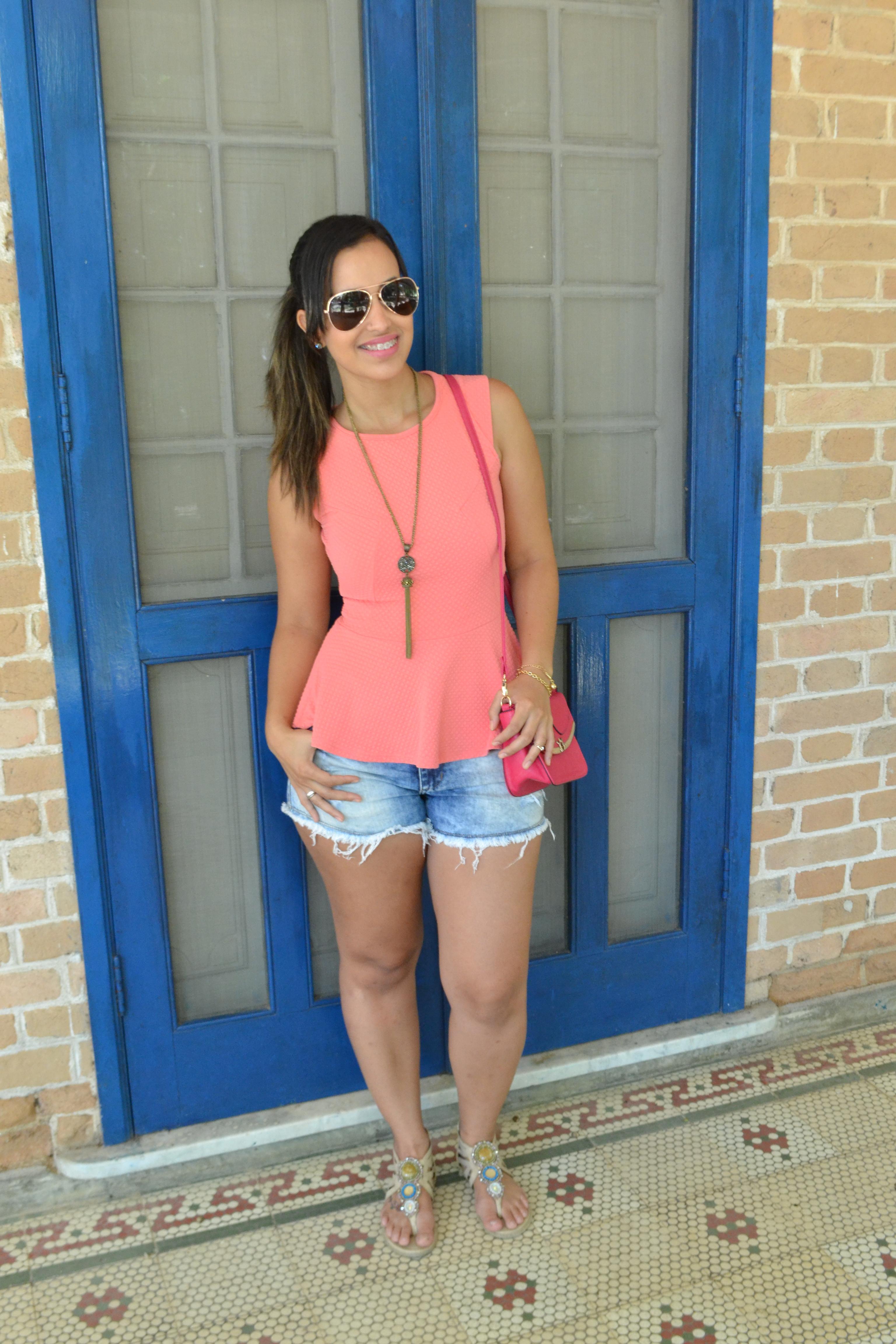 Short Jeans e Peplum