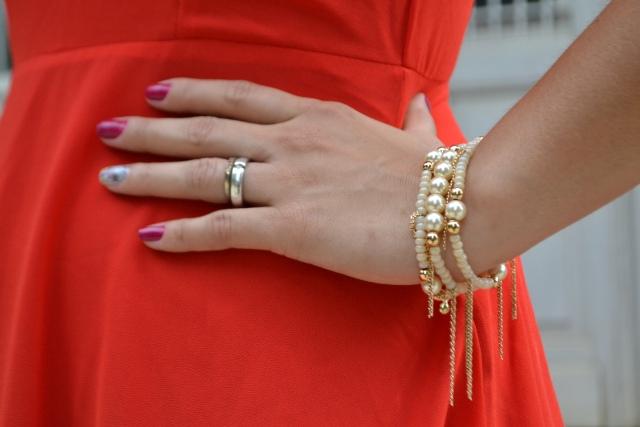 Look vestido vermelho