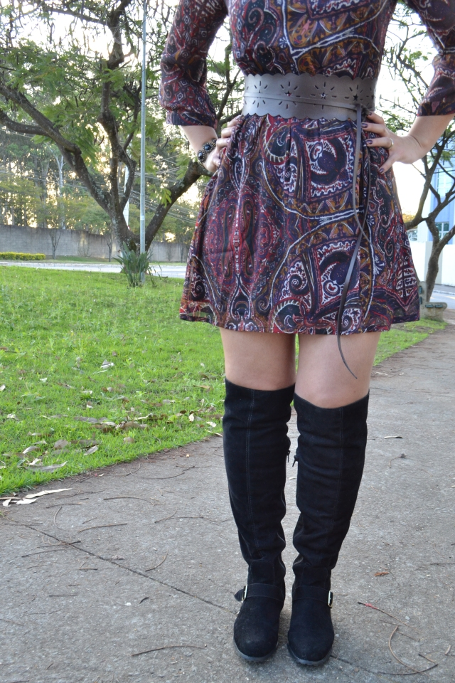Vestido e bota Over the knee